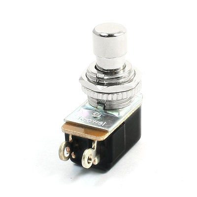 2-Pin SPST Momentary Guitar Effects Push Button Foot Switch AC 250V 2A mini interruptor switch button mkydt1 1p 3m power push button switch foot control switch push button switch