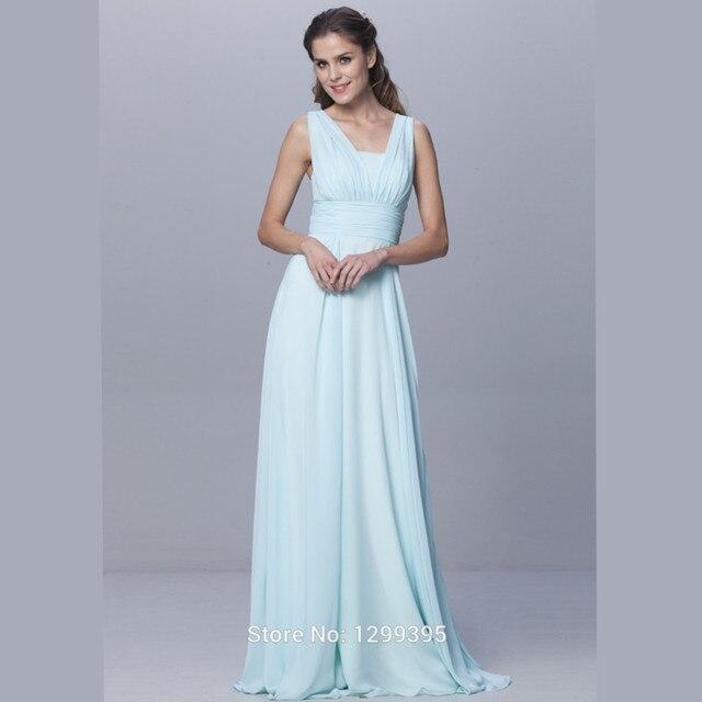 2017 China Light Green Chiffon Long Bridesmaid Dresses Hot Sale Convertible  Robe de Moiselle d honneur longue Six Styles c44d3a5a139b