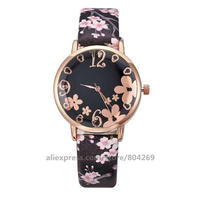 Popular Wholesale Fashion Watch Gift Casual Dress Women Flower Watches Lady Woman Wristwatches 919897 | Fotoflaco.net
