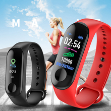 LIGE Smart Bracelet Color-screen IP67 Fitness Tracker blood pressure Heart Rate Monitor Smart Sport Watch For Android ios +Box m3s color screen ip67 smart bracelet blood pressure heart rate monitor fitness tracker smart wrist band for android ios phone
