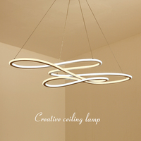 NEO Gleam Double Glow Modern Led Pendant Light For Kitchen Dining Living Room Suspension Luminaire Hanging