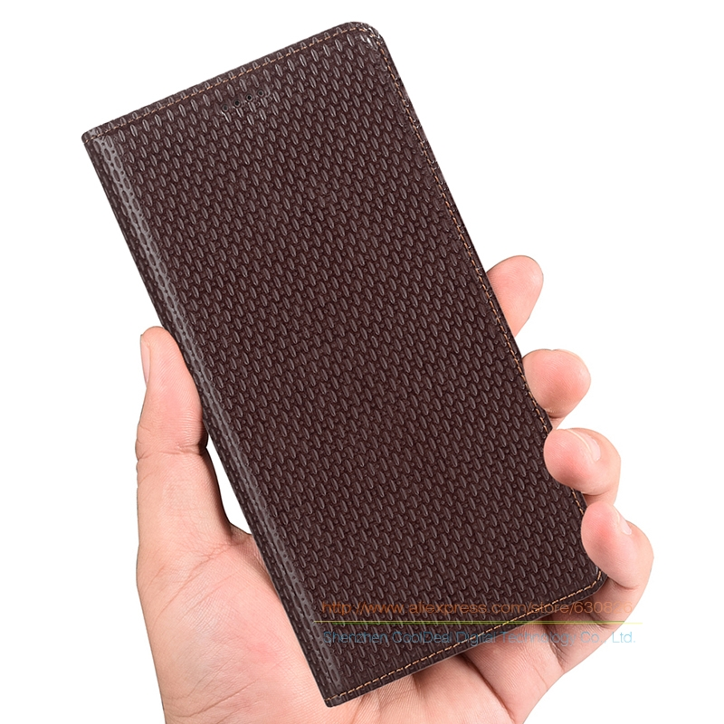 Luxury Business Genuine Leather KickStand Case For ZTE Nubia M2 Lite 5 5 Phone Invisible Magnet