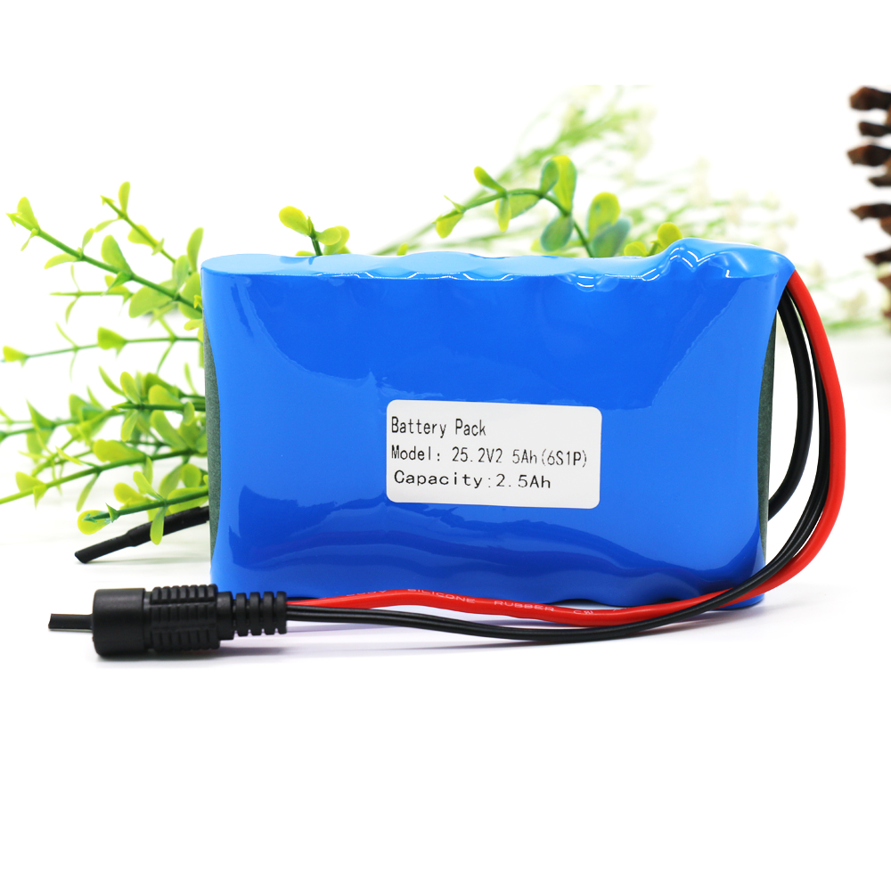 KLUOSI 24V Battery 6S1P 25.2V 2.5Ah Li-Ion Battery Pack with 20A Balanced BMS  for Small Electric Motor Bicycle Ebike ScooterKLUOSI 24V Battery 6S1P 25.2V 2.5Ah Li-Ion Battery Pack with 20A Balanced BMS  for Small Electric Motor Bicycle Ebike Scooter