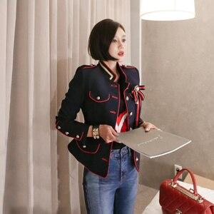 Image 2 - Женская куртка в винтажном стиле, элегантная однотонная куртка для отдыха, весна 2020