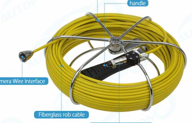 WP-cable 20M cable wire , use for WP70 WP90 Sewer Waterproof Camera Pipe Pipeline Drain Inspection System, Pipeline Inspection стоимость