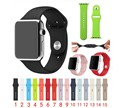 FOHUAS Silicone Replacement Smart Watch Strap 38mm 42mm Sport Band for Apple Watch Series 1 Series 2