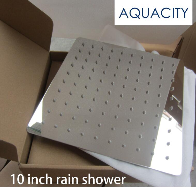 10 Inch Stainless Steel Rain Shower Head Slim Bathroom Rain Shower AQUACITY I
