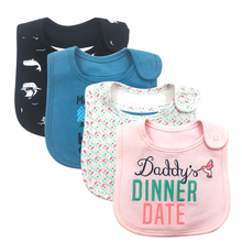 100% Cotton Waterproof Baby Girls Boys Bibs