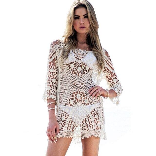 52abb6eb8b Bkning Playa Bikini de ganchillo Vestido traje Bikini Vestido Playa Bikini  Outfitter Curl transparente párr Playa