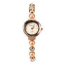 Women Bracelet Watches Rose Gold Pearl