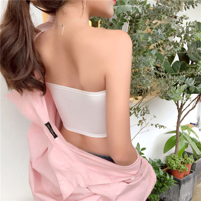 Women Crop Top Camis Black White Summer Blouse Clothes Tube Top Fashion Short Tank Tops Ladies Casual Polyester & Cotton 3