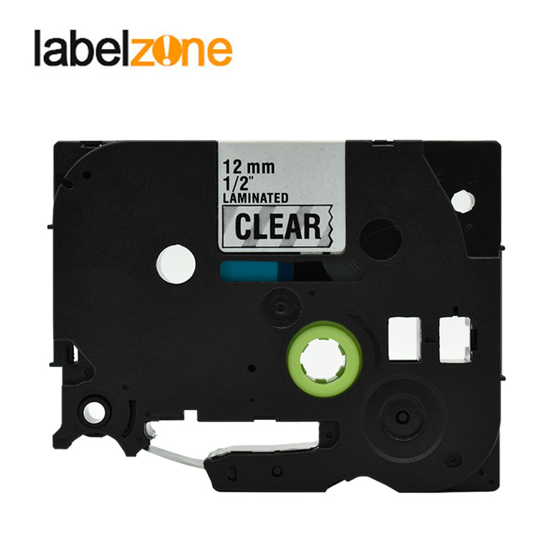 12mm Black on Clear Tze131 Laminated Label Tape Compatible Brother p-touch label printers Tze-131 Tze 131 tz131 tz-131 tze tapes цена