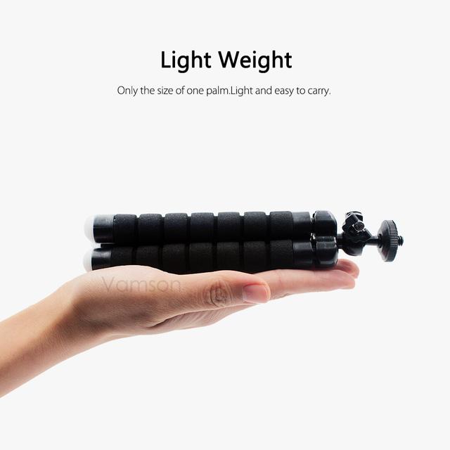 Vamson Mini Flexible esponja pulpo trípode para iPhone Samsung Xiaomi Huawei teléfono móvil Smartphone para cámara Gopro VP414C