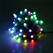 лучшая цена 12mm WS2811 2811 IC RGB LED Module String Light IP68 Waterproof 5V Full Color LED Point Pixel Lights for Christmas Holidays