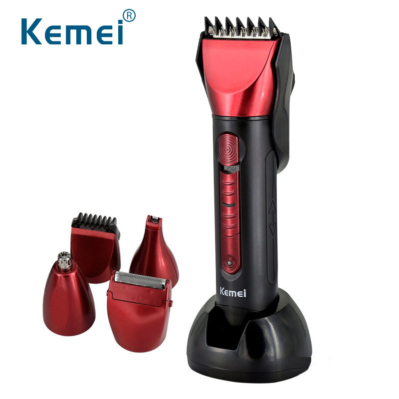 KM8058 Multifunction Trimmer Razor Hair Clipper Electric Shave Beard temples Nose Styling Tool For Men Children Cutting Machine professional electric hair clipper razor child baby men electric shaver hair trimmer cutting machine haircut barber tool hot3637