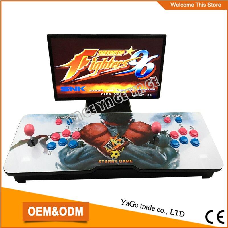 terbaru desain arcade ganda rocker game controller dengan kotak pandora 4 s multi permainan papan