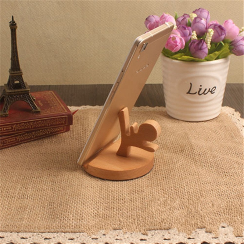 Universal Portable Unique Wooden Style Cellphone Holder Stand Bracket For IPhone For Samsung For XiaoMi For Huawei Gift Durable
