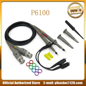 Hantek P6100 wysoka precyzja sonda oscyloskopowa 1X10X100 MHz zacisk krokodylkowy sonda testowa tanie i dobre opinie Sonda oscyloskopu i Akcesoria