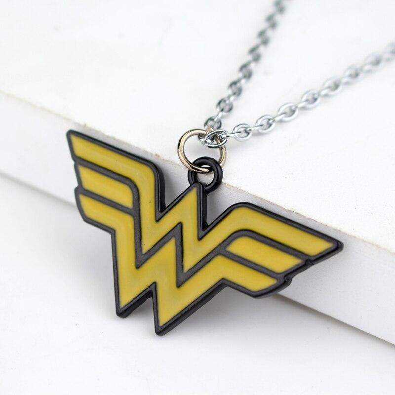 Новое поступление Wonder Woman Цепочки и ожерелья супергерой Супермен фильм кулон Модные украшения подарок для любителей золото Цепочки и ожере...
