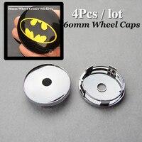Good Quality Wheel Center Cap 60mm 2 36inch For Batman Logo Car Wheel Hub Caps Auto