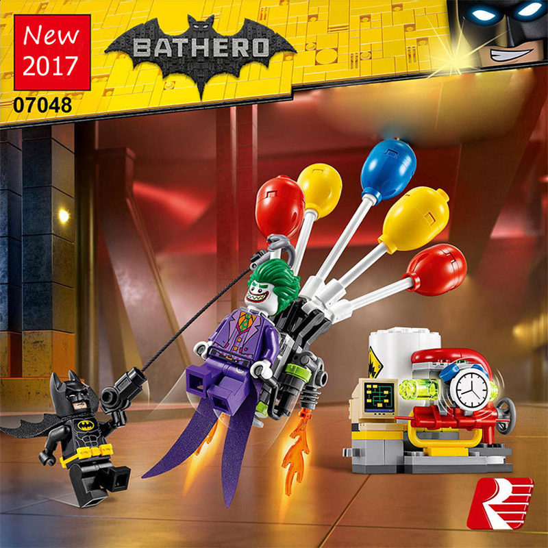 07048 Marvel Super Heroes The Joker Escape Balloon Building Bricks Blocks Set Kids Toys Compatible 70900 Lepine Batman Movie