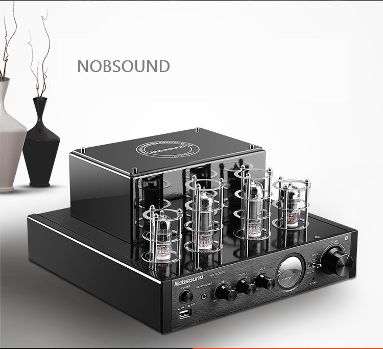 NOBSOUND top selling MS-10D tube amplifier HIFI EXQUIS 6n1 6p1 lamp amp MS10D nobsound ms 10d mkii hifi 2 0 tube amplifier usb bluetooth amplifier audio amplifier 25w 2 top