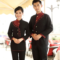 Hotel Uniform Chef Autumn and Winter Men and Women Restaurant Catering Waiter Uniform Clothing Long Sleeved Jacket only
