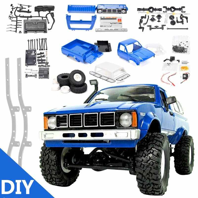 RBR/C WPL C24 DIY radio control auto off-road RC auto onderdelen 1:16 RC gevolgd militaire truck body montage kit modificatie