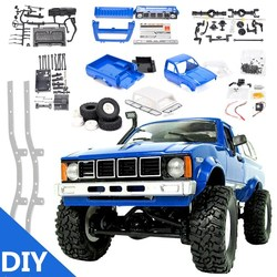 RBR/C WPL C24 DIY radio control car off-road RC car parts 1:16 RC tracked military truck body assembly kit modification