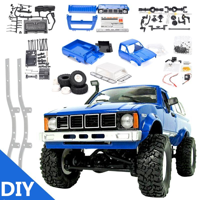 RBR/C <font><b>WPL</b></font> <font><b>C24</b></font> DIY radio control car off-road RC car parts 1:16 RC tracked military truck body assembly kit modification image