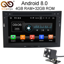 4GB RAM Android 8.0 Car DVD Player GPS Navigation Multimedia For Peugeot 3008/5008/Partner Citroen Berlingo RDS Radio Stereo