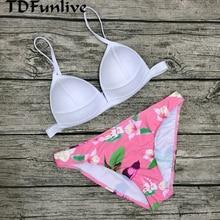 TDFunlive Bandage Bikini Women Sexy Padded Top Swimsuit Bikinis Sets Push Up Swimwear Women Biquini bathing suit maillot de bain
