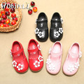 2017 spring Girls Genuine Leather shoes baby sweet princess dance shoes children kids Female Soft bottom casual shoes 21-26