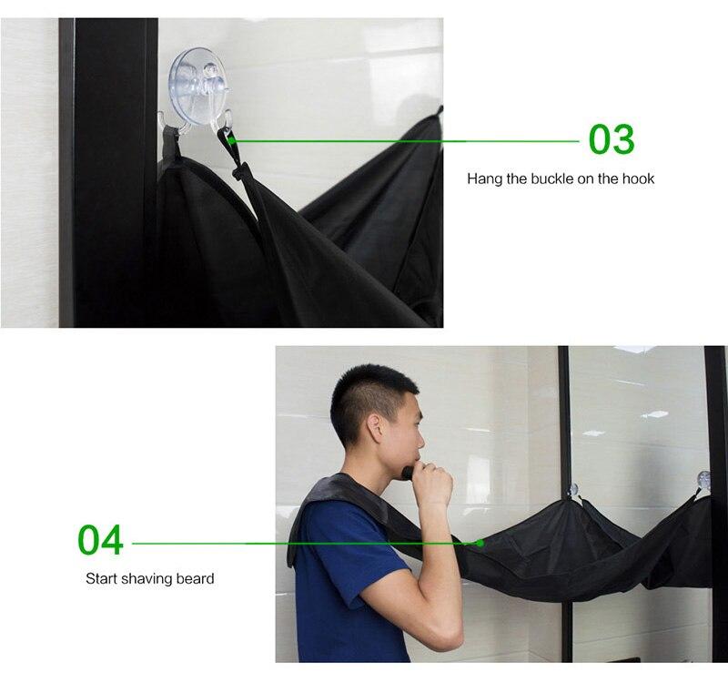 Фартук для бритья и ухода за бородой с креплением к зеркалу