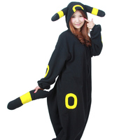 Lovely Cosplay Cartoon Anime Black Umbreon Adult Unisex Onesie Female Male Winter Party Pajamas Costumes With