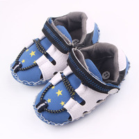 Spring Autumn Star Pattern Cool Patchwork Design Hook And Loop Good Ventilation TPR Sole Baby Sports