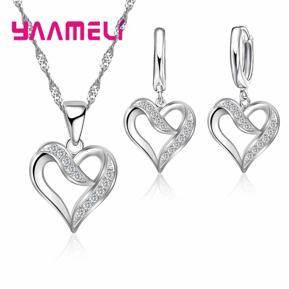 925 Sterling Silver Natural Pastoral Style Cross Wavy Spring Necklace Earrings Set For Women Dating Engagement Jewelry