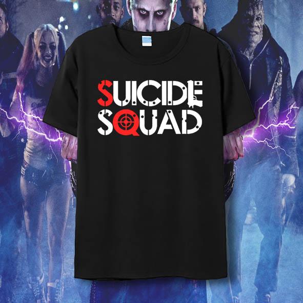 c65cebd04 Suicide Squad T Shirt Harley Quinn T-shirt Joker Cool Novelty Funny Hip Hop  Pop Tshirt Style Men Women Printed Fashion