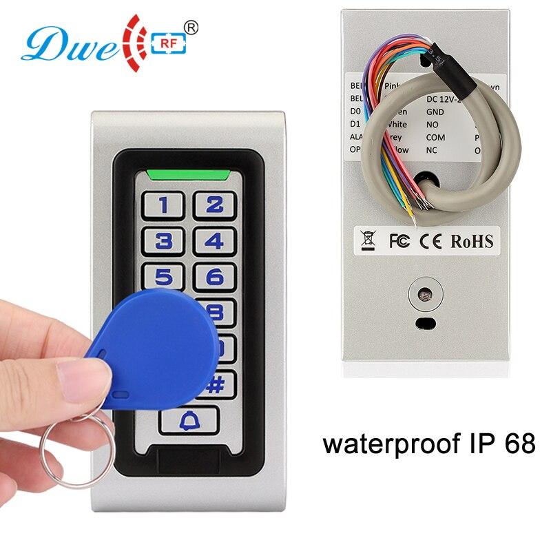 Anti-vandal Waterproof Keypad Metal Rf Id Controller 12V Rfid 125khz Door Wiegand 26 Card Reader Ip68 With Backlight