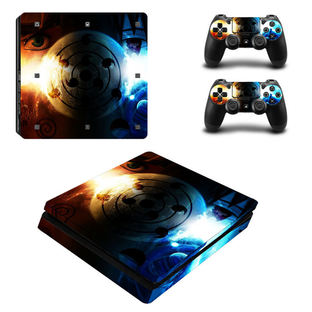 Naruto Vinyl Decal For PS4 Slim Skin Stickers Wrap for Sony PlayStation 4 Slim Console and 2 Controllers Skins  4
