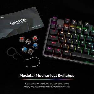 Image 3 - Clavier mécanique TECWARE Phantom 87, LED RGB, interrupteur bleu Outemu, commutateurs supplémentaires fournis, Excellent pour les Gamers