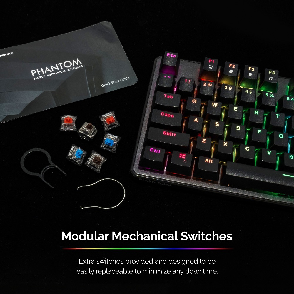 Image 3 - TECWARE Phantom 87 Mechanical Keyboard, RGB LED, Outemu Blue Switch,Extra Switches Provided, Excellent for Gamers-in Keyboards from Computer & Office