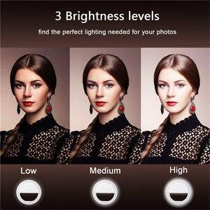 Image 2 - أدى ringlight المحمولة فلاش كاميرا ليد كليب على الهاتف Selfie مصباح مصمم على شكل حلقة الفيديو الضوئي ليلة تعزيز ضوء ل Selfie مصباح