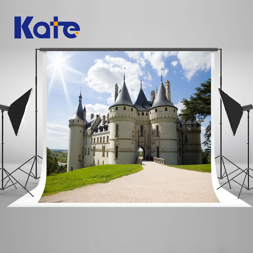 Kate 10x10ft castle backgrounds for photo studio blue sky scenic photo backdrop road washable photo background photography blue sky чаша северный олень