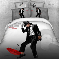 Unique Designs Superstar Michael Jackson Bedding Set Queen Size 100% Cotton Printed Bed Sheet Duvet Cover Pillowcase