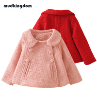 Mudkingdom Baby Girls Winter Jacket Coats Kids Baby Girl Outdoor Clothes Casual Winter Red Jacket Trolls