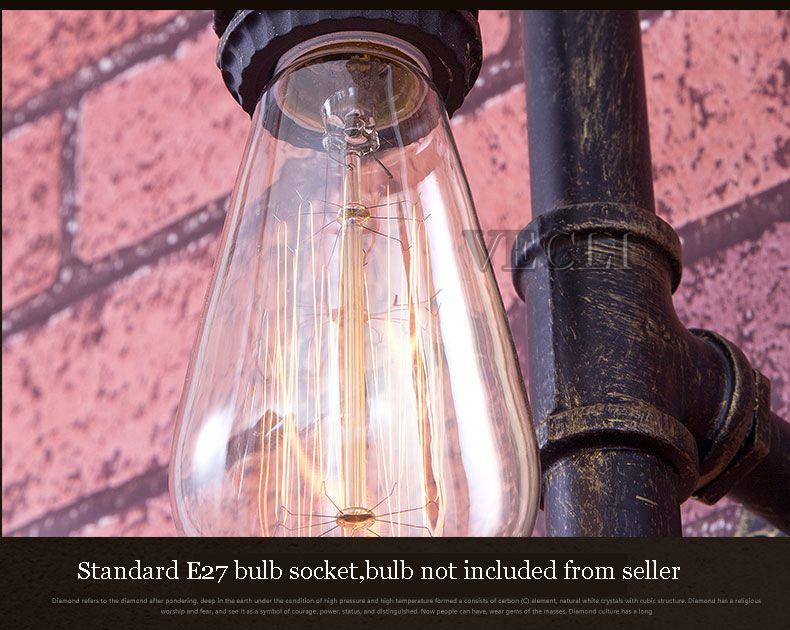 varanda corredor café luz arandela tubulação água edison e27 sutiã
