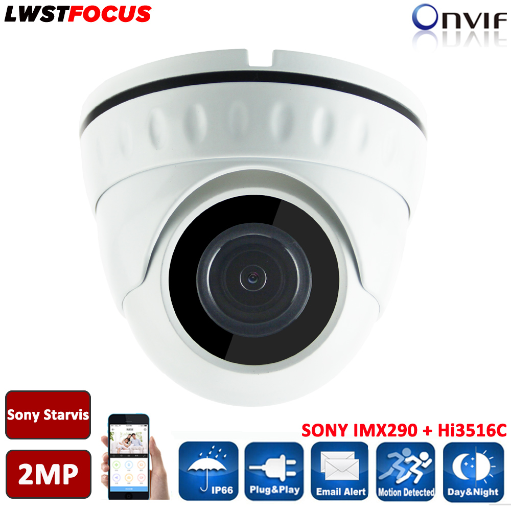 Sony Starvis 2MP IP Camera POE ONVIF 1080P H.264/265 HD Lens Security Room Dome Support Phone Android IOS P2P Camera Seguranca 5mp ip bullet camera h 264 h 265 compression 3 6mm fixed hd lens support poe p2p onvif