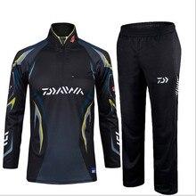 2017 Daiwa/Dawa Warm Fishing Clothing sets Men Breathable Sun UV Protection Outdoor Sportswear Suit Fishing Shirt Fishing Pants