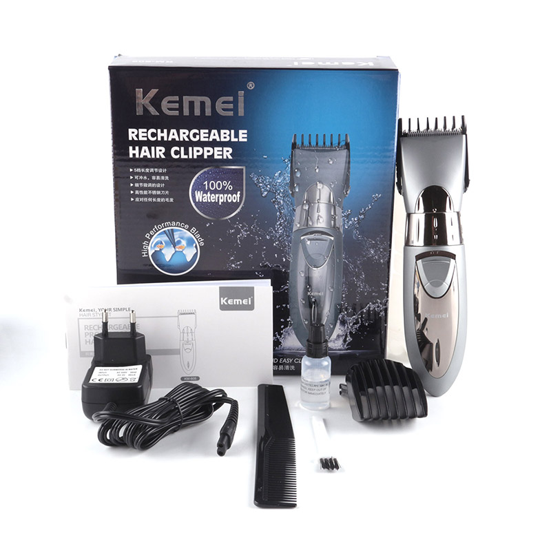 kemei KM-605 professional hair clipper electric hair trimmer waterproof hair shaving machine hair cutting beard electric razor kemei km 236 professional electric hair clipper cordless